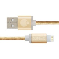 Кабель Coteetci M30i Lightning USB Cable 2m Gold для Apple IPhone/IPad/IPod
